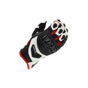 RICHA STEALTH BLACK/WHITE/RED SUMMER GLOVE