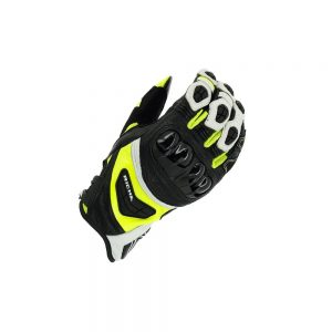 RICHA STEALTH BLACK/WHITE/YELLOW SUMMER GLOVE