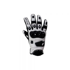 RICHA ROCK GLOVE BLACK/WHITE SUMMER GLOVE