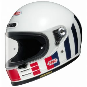 SHOEI GLAMSTER RESURRECTION TC10 WHITE/RED/BLUE