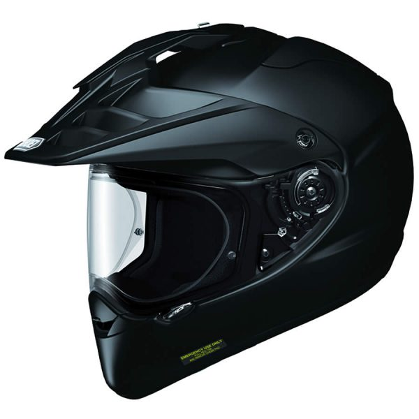 HORNET_Black-SHOEI HORNET ADV PLAIN GLOSS BLACK