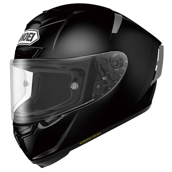 X-SpiritIII_Black_FrontTilt-SHOEI X-SPIRIT 3 PLAIN GLOSS BLACK