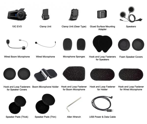 10c kit-SENA 10C EVO BLUETOOTH CAMERA & COMMUNICATION SYSTEM 10C-EVO-01 SINGLE UNIT