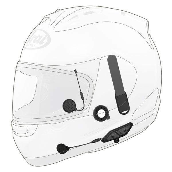 16224.jpg-Sena B/T COMM System with Handlebar Remote Arai Full-face Helmets 10U-AR-01