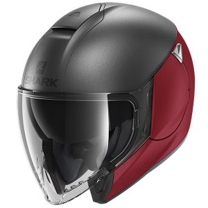 SHARK CITYCRUISER DUAL BLANK – MATT ANTHRACITE/RED