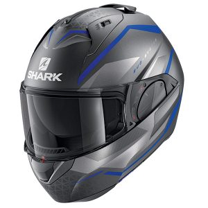 SHARK EVO ES YARI – MATT ANTHRACITE/BLUE/SILVER