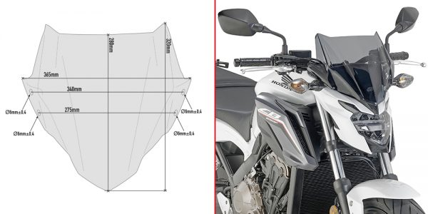 A1159.jpg-SMOKED SCREEN (FITTING KIT INC) / HONDA CB650F (17)