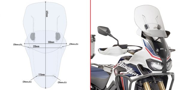 AF1144.jpg-AIRFLOW SCREEN (REPLACES ORIGINAL)/AFRICA TWIN (16-18)