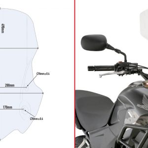 SPECIFIC TRANSPARENT SCREEN / HONDA CB500X (13-16)