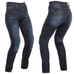 RICHA NORA LADIES PROTECTIVE JEANS SLIM NAVY REGULAR LEG