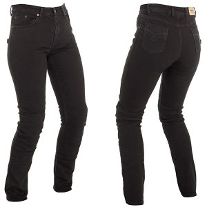 RICHA NORA LADIES PROTECTIVE JEANS SLIM BLACK REGULAR LEG