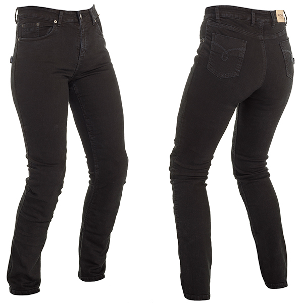 15836-082_norasf_bk_a-1-3-600-RICHA NORA LADIES PROTECTIVE JEANS SLIM BLACK REGULAR LEG