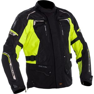 RICHA INFINITY 2 LADIES TEXTILE JACKET BLACK FLURO