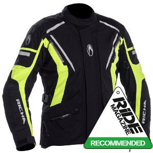 RICHA CYCLONE GORETEX GTX TEXTILE JACKET BLACK FLURO