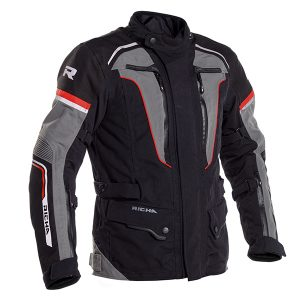 RICHA INFINITY 2 PRO TEXTILE JACKET BLACK GREY RED