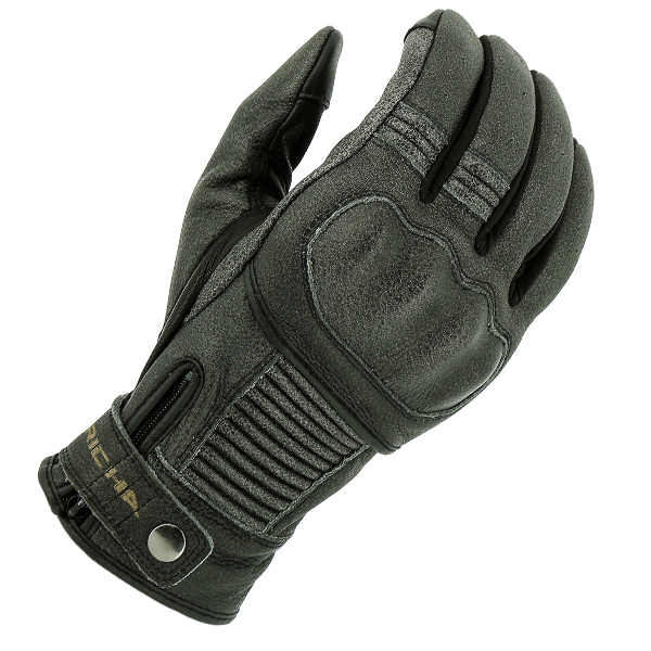 BOBBER BLK 1-RICHA BOBBER VINTAGE LOOK GREY SUMMER GLOVE