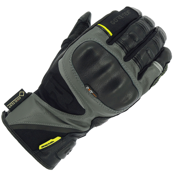 atlantic gry-RICHA ATLANTIC GORETEX SUMMER GLOVE BLACK/TITANIUM