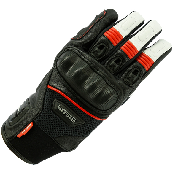 blast red-RICHA BLAST BLACK SUMMER GLOVE