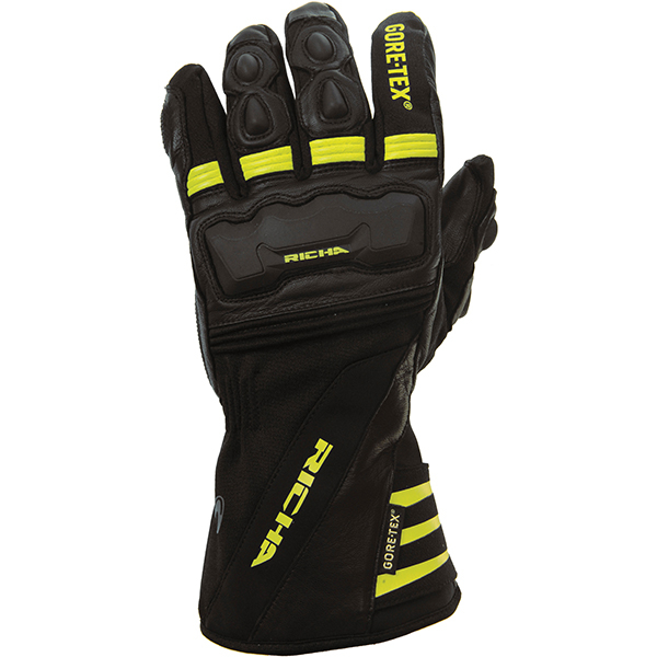 cold protect yel-RICHA COLD PROTECT GTX GORETEX WINTER GLOVE BLACK FLURO