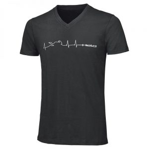 HELD T-SHIRT HEARTBEAT BLACK