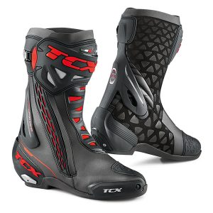 TCX RT RACE BOOTS BLACK RED