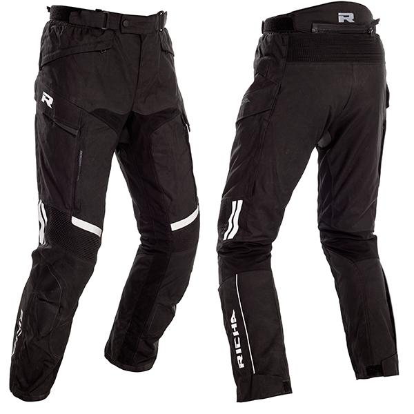 15840-082_tou2t_bk_a-1-3-600-RICHA TOUAREG 2 TEXTILE TROUSERS BLACK STANDARD LEG