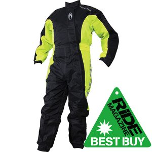 RICHA TYPHOON WATERPROOF OVER SUIT BLACK FLURO