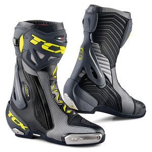 TCX RT RACE PRO AIR BOOTS BLACK GREY FLURO
