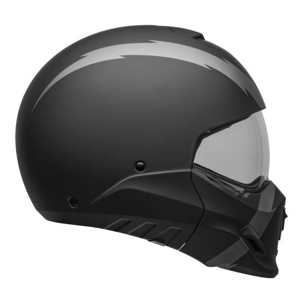 bell-broozer-street-helmet-arc-matte-black-gray-right-clear-shield__35319.jpg-Bell Cruiser 2021 Broozer Adult Helmet (Arc Matte Black/Gray)