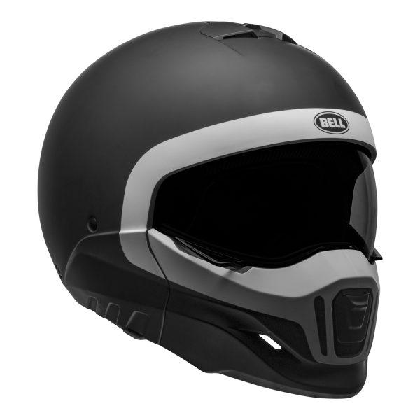 bell-broozer-street-helmet-cranium-matte-black-white-front-right__52297.jpg-Bell Cruiser 2021 Broozer Adult Helmet (Cranium Matte Black/White)