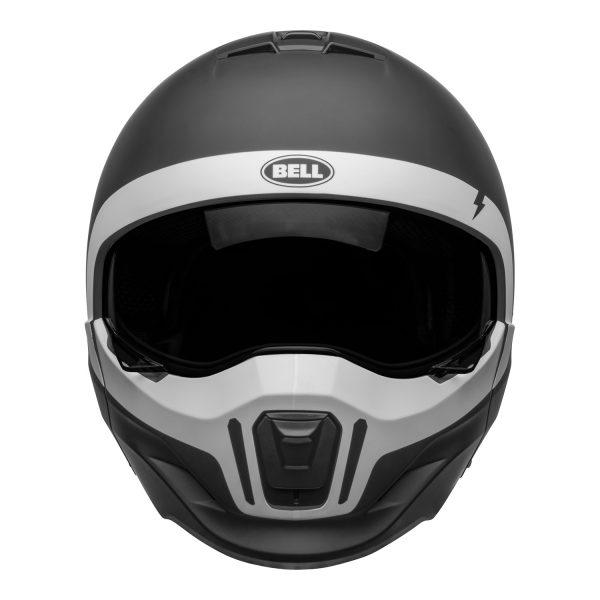 bell-broozer-street-helmet-cranium-matte-black-white-front__58058.jpg-Bell Cruiser 2021 Broozer Adult Helmet (Cranium Matte Black/White)