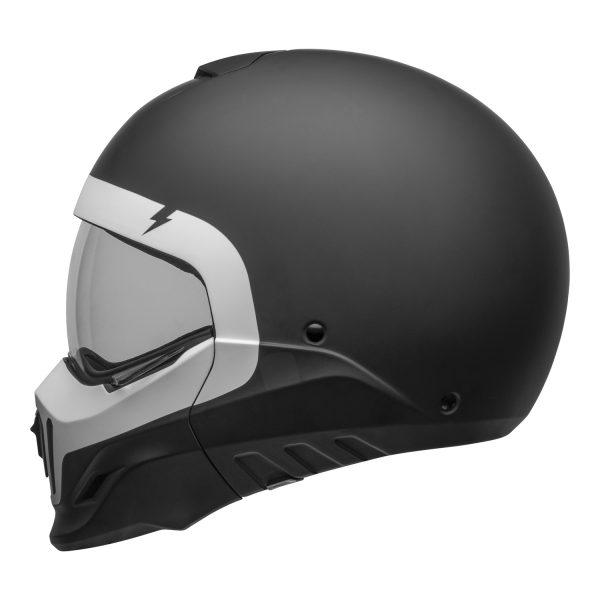 bell-broozer-street-helmet-cranium-matte-black-white-left-clear-shield__10769.jpg-Bell Cruiser 2021 Broozer Adult Helmet (Cranium Matte Black/White)