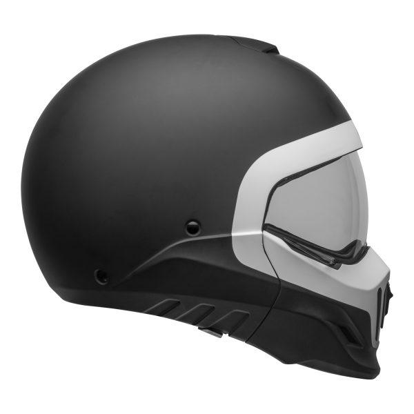 bell-broozer-street-helmet-cranium-matte-black-white-right-clear-shield__64593.jpg-Bell Cruiser 2021 Broozer Adult Helmet (Cranium Matte Black/White)