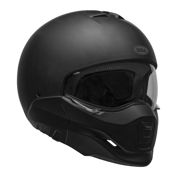 bell-broozer-street-helmet-matte-black-front-right-clear-shield__94325.jpg-BELL BROOZER SOLID MATT BLACK