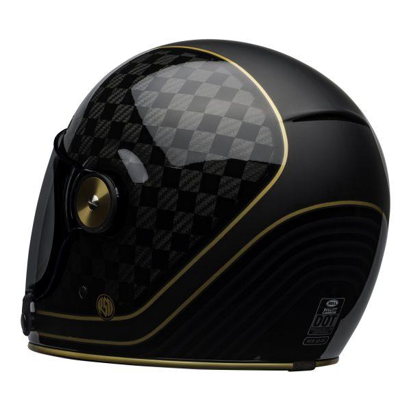 bell-bullitt-carbon-culture-helmet-rsd-check-it-matte-gloss-black-back-left-BELL BULLITT CARBON RSD CHECK IT MATT/GLOSS BLACK GOLD