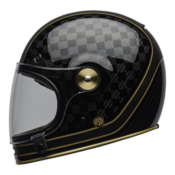 bell-bullitt-carbon-culture-helmet-rsd-check-it-matte-gloss-black-clear-shield-left-BELL BULLITT CARBON RSD CHECK IT MATT/GLOSS BLACK GOLD