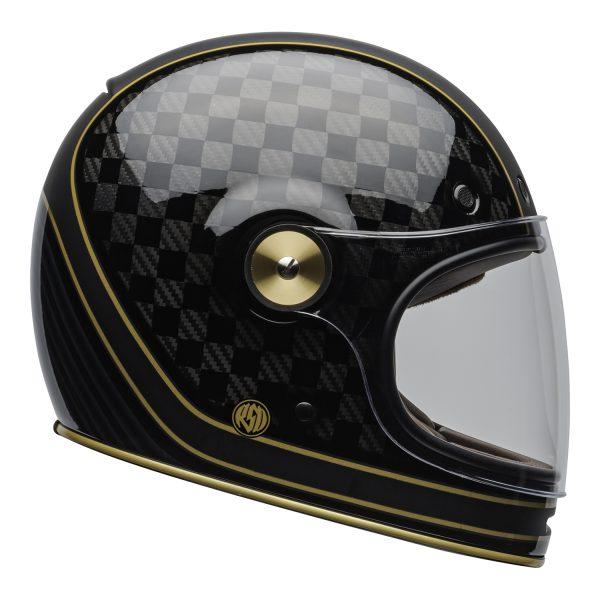 bell-bullitt-carbon-culture-helmet-rsd-check-it-matte-gloss-black-clear-shield-right-BELL BULLITT CARBON RSD CHECK IT MATT/GLOSS BLACK GOLD