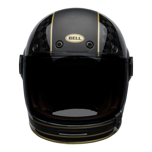 bell-bullitt-carbon-culture-helmet-rsd-check-it-matte-gloss-black-front.jpg-Bell 2021 Cruiser Bullitt Carbon (RSD Check It Helmet M/G Black)
