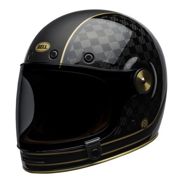 bell-bullitt-carbon-culture-helmet-rsd-check-it-matte-gloss-black-front-left.jpg-BELL BULLITT CARBON RSD CHECK IT MATT/GLOSS BLACK GOLD