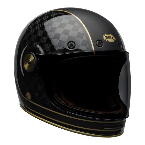 bell-bullitt-carbon-culture-helmet-rsd-check-it-matte-gloss-black-front-right.jpg-BELL BULLITT CARBON RSD CHECK IT MATT/GLOSS BLACK GOLD