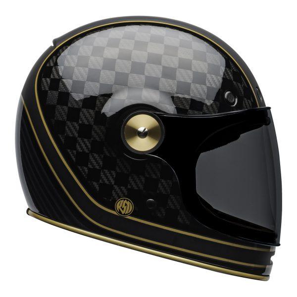 bell-bullitt-carbon-culture-helmet-rsd-check-it-matte-gloss-black-right.jpg-Bell 2021 Cruiser Bullitt Carbon (RSD Check It Helmet M/G Black)