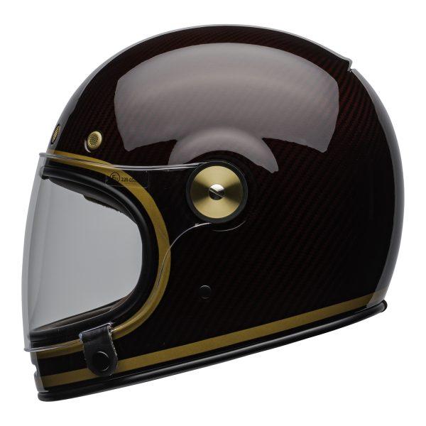 bell-bullitt-carbon-culture-helmet-transcend-gloss-candy-red-gold-clear-shield-left-BELL BULLITT CARBON TRANSEND CANDY RED GOLD