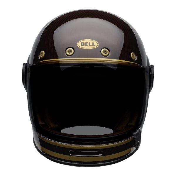 bell-bullitt-carbon-culture-helmet-transcend-gloss-candy-red-gold-front-BELL BULLITT CARBON TRANSEND CANDY RED GOLD