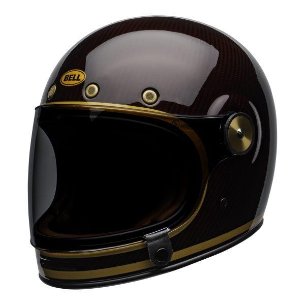 bell-bullitt-carbon-culture-helmet-transcend-gloss-candy-red-gold-front-left.jpg-Bell 2021 Cruiser Bullitt Carbon Adult Helmet (Transend Candy Red/Gold)
