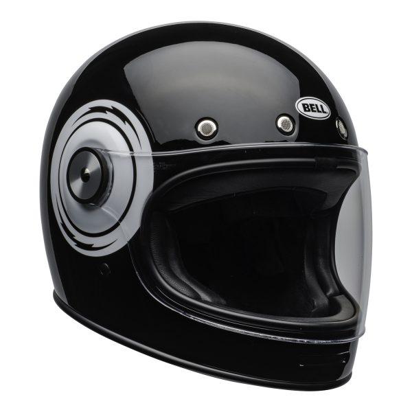 bell-bullitt-culture-helmet-bolt-gloss-black-white-clear-shield-front-right-BELL BULLITT DLX BOLT BLACK WHITE