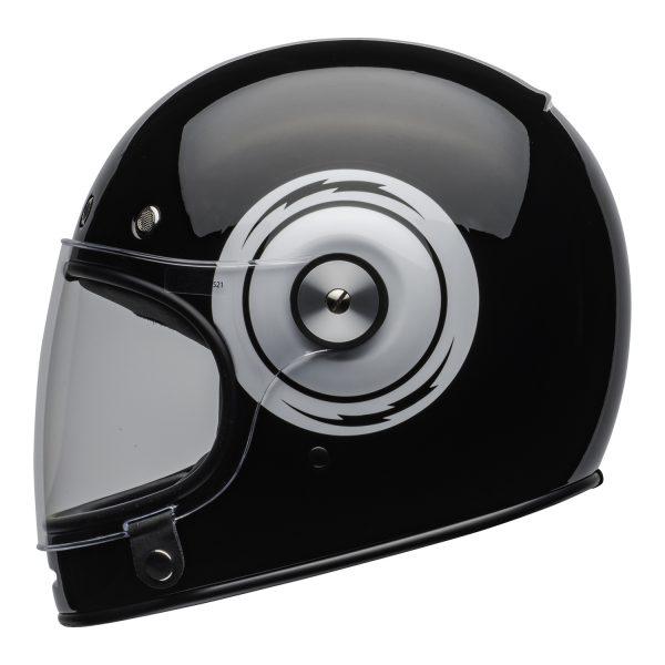 bell-bullitt-culture-helmet-bolt-gloss-black-white-clear-shield-left-BELL BULLITT DLX BOLT BLACK WHITE