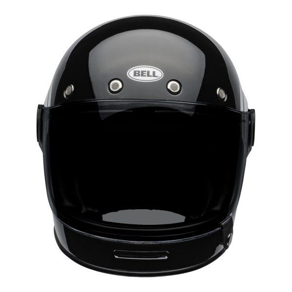 bell-bullitt-culture-helmet-bolt-gloss-black-white-front.jpg-Bell 2021 Cruiser Bullitt Adult Helmet (Bolt Black/White)