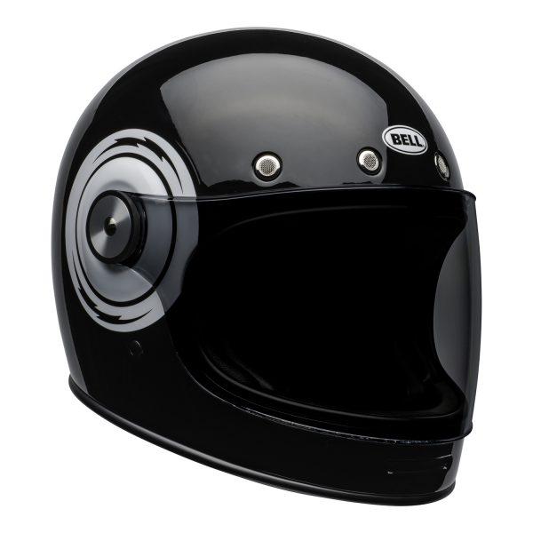 bell-bullitt-culture-helmet-bolt-gloss-black-white-front-right.jpg-Bell 2021 Cruiser Bullitt Adult Helmet (Bolt Black/White)