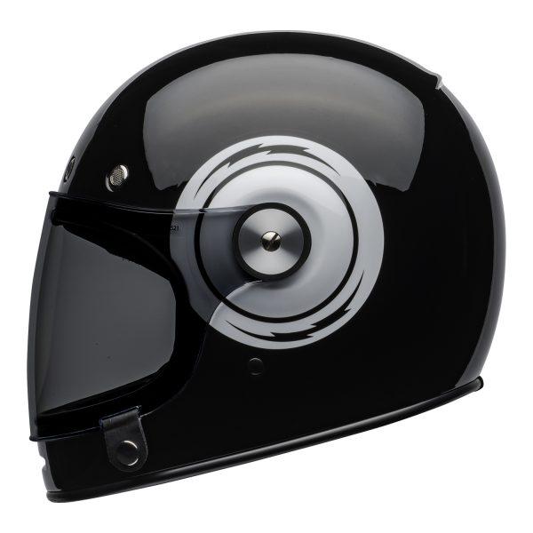 bell-bullitt-culture-helmet-bolt-gloss-black-white-left.jpg-Bell 2021 Cruiser Bullitt Adult Helmet (Bolt Black/White)
