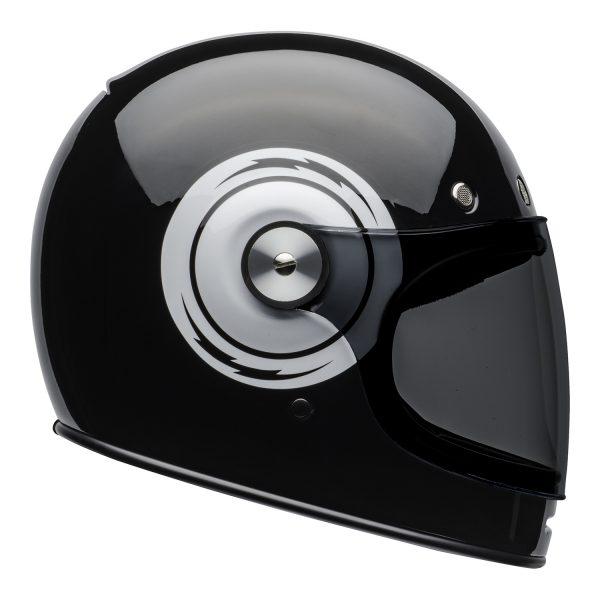 bell-bullitt-culture-helmet-bolt-gloss-black-white-right.jpg-Bell 2021 Cruiser Bullitt Adult Helmet (Bolt Black/White)